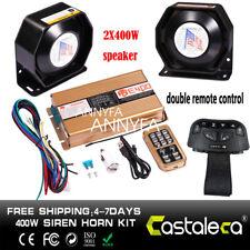 400W 8 Sound Car Loud Warning Alarm Police Fire Siren Horn Speaker ASE400 System