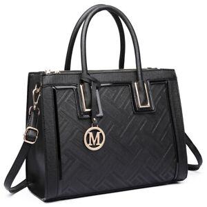 Damen Henkeltasche Schultertasche Handtasche Aktentasche Arbeit Shopping Urlaub