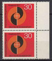 679 postfrisch Paar senkrecht Rand rechts BRD Bund Deutschland Jahrgang 1971