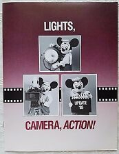 1989 DISNEY COMPANY LIGHTS CAMERA  ACTION CAST UPDATE & FUTURE PROJECT INFO BOOK