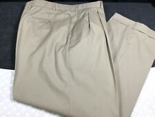 38 X 28 BROOKS BROTHERS MEN'S PANTS PLEAT BEIGE - Dry Clean Only