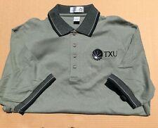TXU Corp | Adult Golf Shirt | Slate Green | Large | Never Worn