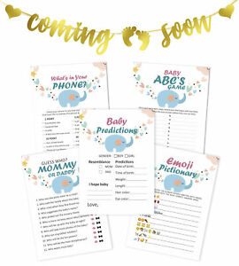 Inkdotpot 5 Baby Elephant Activities For 50 Guests Baby Shower Games-EYp