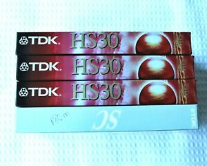 4TDK VHS Tapes High Quality frequent re-recording & 1 TDK Sharp & Clear (B4)