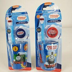 Brush Buddies Boy's Tooth Brush Set Thomas & Friends Soft Brush Rinsing Cup/Cap