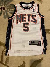 JASON KIDD #5 NEW JERSEY NETS  REEBOK JERSEY YOUTH Small S(8) NBA KIDS Boys SEWN