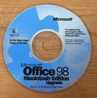 Vtg 1998 Office 98 Suite Macintosh Mac OS Edition Software Installation CD Disc