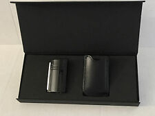 S.T. Dupont Black as Night MaxiJet Torch Lighter & Pouch, 20104N, New In Box