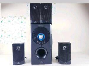 HI-FI ACTIVE 4.1 SURROUND SOUND SPEAKER SYSTEM HOME CINEMA USB SD AUX