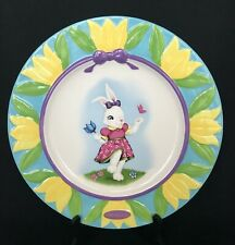 "Celebrations Christopher RADKO Easter Plate 12"" Handcrafted Rare Hard to Find"