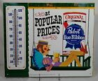 Old Pabst Blue Ribbon Beer Tin Thermometer Sign Milwaukee Wisconsin WI Peoria IL