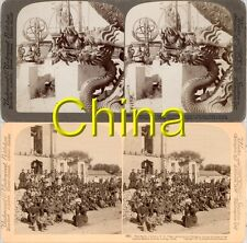 18 new STEREOFOTOS ÜBER CHINA PEKING UM 1900 Serie 7