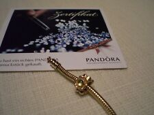 PANDORA Charm / Green Peridot Flower / 14k Gold/ 750343PE / Gold 585 / Top !!