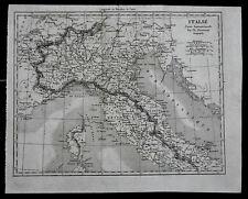 ITALIA DEL NORD O SETTENTR, CARTA GEOGRAFICA PER  DUVOTENAY=LEMAITRE.Artaud.1835
