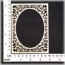 Chipboard Embellishments for Scrapbooking, Cardmaking - Ornate Frame 206092w