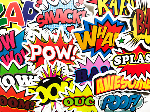 50 Comic Superhero Emote Stickers Decals For Skateboard Cars Laptop #BS