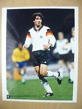 Original Foto de prensa (10x8) - Jugadores de Karl Heinz Riedle, Alemania
