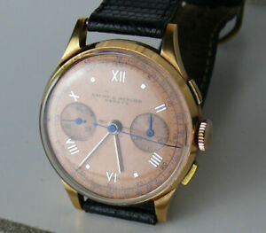 BAUME & MERCIER CHRONOMETRE Montre-bracelet RARE OR18K