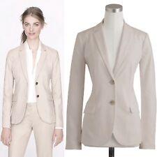 J Crew Size 6 1035 Blazer Jacket Superfine Cotton Taupe Career Lined