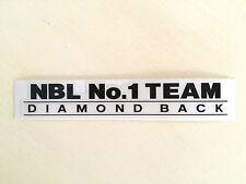 Diamond Back   NBL No. 1 Team  - BAR DECAL
