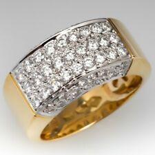 Band Ring Woman Men Jewelry Size 5-10 Fashion 18K Yellow Gold Plated White Topaz