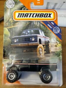2021 Matchbox Black 1968 Dodge D200