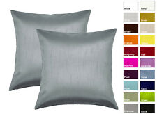 Aiking Home Solid Faux Silk Decorative Pillow Cover ( Pack of 2 )