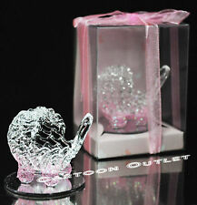 12 PC CRYSTAL CARRIAGE GLASS BABY SHOWER PARTY FAVORS BLUE CRYSTAL RECUERDOS BOX