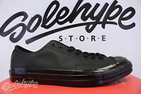 CONVERSE CHUCK TAYLOR CT AS 1970 OX MONO LEATHER TRIPLE BLACK 155456C SZ 8