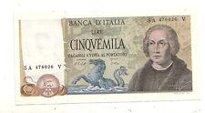 italia 5000 5.000 lire Colombo 2 1977 num 476026 Superbo aUNC pick 102c rif 2404