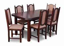 Dining Table Table +6 Chairs Group Dining Room Living Room Set Wood Design Set