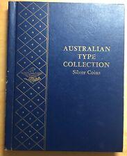 Whitman Album #9528, Australian Type Set, Silver Coins (book25)