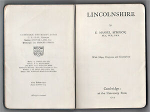 VINTAGE - LINCOLNSHIRE BY E. MANSEL SYMPSON – 1914