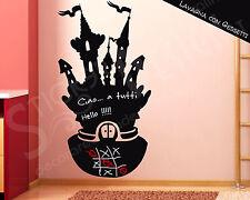 Adesivi Murali Lavagna Adesiva Adesivo Wall Sticker Gioco Bimbi Castello Magico