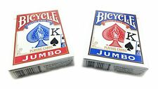 Bicycle Jumbo Playing Cards #88 Poker Cards 2 Decks 1 Blue, 1 Red Brand New