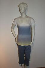 """Triumph Pyjama """"Summer Breeze PK 22"""" Gr.38 weiß mit blau/gelb Batikdesign"""