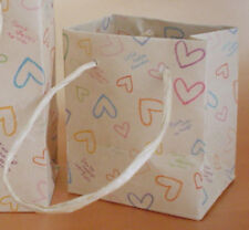 Japanese style hand made heart prints paper bag carrier