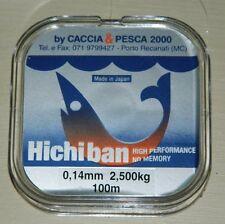 monofilo hiciban mm0.14 m 100 tripla forza pesca mf bc2