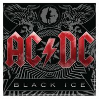 AC/DC black ice 2011 square VINYL STICKER official merchandise AC-DC ACDC