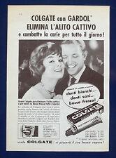 A495-Advertising Pubblicità-1960-COLGATE CON GARDOL - DENTIFRICIO
