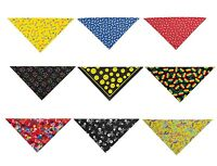 "22"" Square Dog Bandanas 9 Dog Pattern Theme Designs To Choose Colorful Flair"