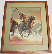 MORT KUNSTLER HANDSIGNED 1979 FRAMED LITHOGRAPH  'BRAVE WARRIOR'  MAKE OFFER!!