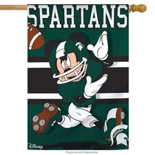 """Michigan State University Spartans NCAA Mickey Mouse House Flag Licensed 28""""x40"""""""