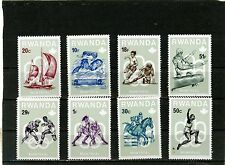 RWANDA 1976 Sc#738-745 SUMMER OLYMPIC GAMES MONTREAL SET OF 8 STAMPS MNH