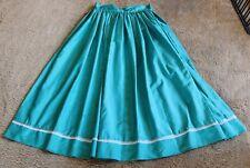 Teal Faux Silk Civil War Era Skirt