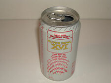 SUPER BOWL XVI 16 SODA COKE CAN 49ers BENGALS  NFL 1987 VERY TOUGH ISSUE