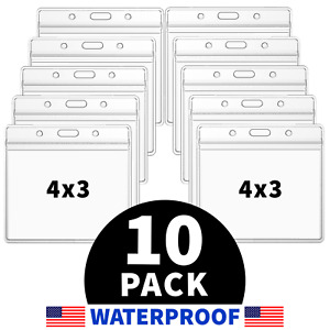 10 Pack CDC Vaccination Card Protector 4x3 Vaccine Holder Sleeve WATERPROOF Zip