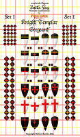 Knights Templar Sergeants I. Official Fireforge Decals by Battle Flag