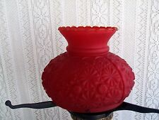 ***** VINTAGE GONE WITH THE WIND RED GLASS  HURRICANE LAMP SHADE #15*****