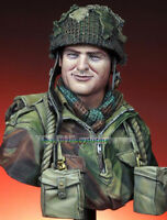 1/10 Scale Unpainted Soldier Bust Model Unpainted WWII Figure Garage Kits Statue